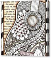 Tangle Guitar 1 Canvas Print