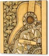 Tangle Guitar Canvas Print