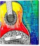 Tangle Guitar No 4 Canvas Print