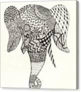 Tangled Elephant Canvas Print