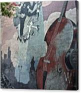Tango And The Double Bass Canvas Print