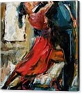 Tango By The Window Canvas Print