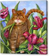 Tango In The Tulips Canvas Print