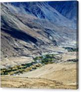 Tangsey Village Landscape Of Leh Ladakh Jammu And Kashmir India Canvas Print