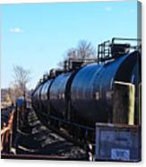 Tanker Cars Pulled By Csx Engines Canvas Print