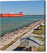 Tanker Transporting Crude Oil Canvas Print