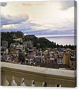 Taormina Balcony View 2 Canvas Print