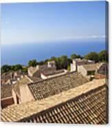 Taormina Rooftops Canvas Print