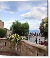 Taormina Square Canvas Print