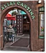 Taos Alley Cantina Canvas Print