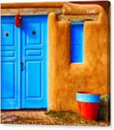 Taos Doorway Canvas Print