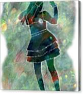 Tap Dancer 1 - Green Canvas Print