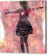 Tap Dancer 2 - Pink Canvas Print