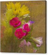 Tapestry Bouquet Canvas Print