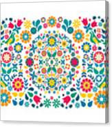 Flores Y Aves Canvas Print