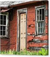 Tar-paper House Door And Windows Canvas Print
