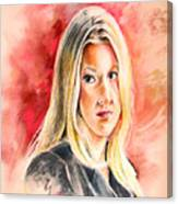 Tara Summers In Boston Legal Canvas Print