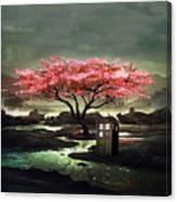 Tardis Blossom Canvas Print