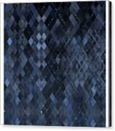 Targyle Pitch Black Pattern 1 Canvas Print