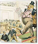 Tariff Lobbyist, 1897 Canvas Print