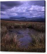 Tarn On The Slopes Of Whernside With Pen-y-ghent On The Horizon Yorkshire Dales England Canvas Print