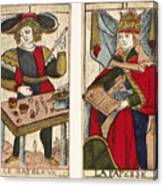 Tarot Cards, C1700 Canvas Print