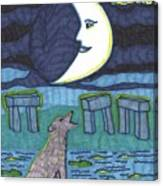Tarot Of The Younger Self The Moon Canvas Print