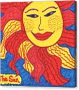 Tarot Of The Younger Self The Sun Canvas Print