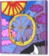 Tarot Of The Younger Self The Wheel Canvas Print