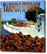 Tarpon Springs Postcard Canvas Print