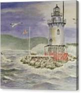 Tarrytown Lighthouse From The South Canvas Print