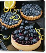 Tart With Blueberries Canvas Print