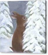 Tasting Winter Canvas Print
