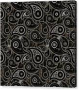 Taupe Brown Paisley Design Canvas Print