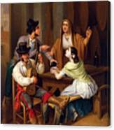 Tavern Scene Canvas Print