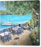 Taverna On Crete  Canvas Print