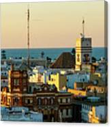Tavira Tower And Post Office From West Tower Cadiz Spain Canvas Print