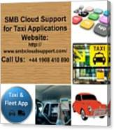 Taxi Booking Application Canvas Print