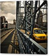 Taxi Crossing Smithfield Street Bridge Pittsburgh Pennsylvania Canvas Print