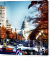 Taxi For Hire  Canvas Print