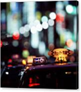 Taxis On The Ginza Canvas Print