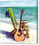 Taylor At The Beach Canvas Print