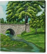 Taylor Lake Stone Bridge Canvas Print