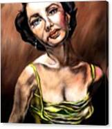Taylor Made Elizabeth Taylor Canvas Print