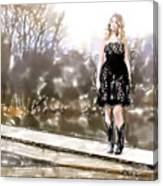 Taylor Swift Watercolor Canvas Print