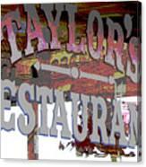 Taylors Canvas Print