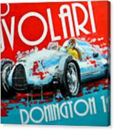 Tazio Nuvolari Auto Union D Donnington 1939 Canvas Print
