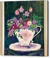 Tea Cup Bloom Canvas Print