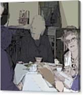 Tea Time At Sue's Canvas Print