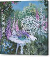 Tea Time In The Garden Canvas Print